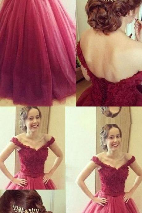 A-Line Prom Dress, Prom Dress Long, Lace Prom Dress, Prom Dress With Appliques M4714