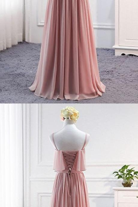 Cute pink tulle off the shoulder sweet prom dresses M6216