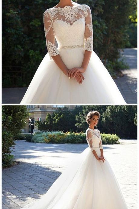 New White/Ivory Wedding Dresse Lace Bridal Gown wedding gowns M6738
