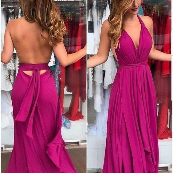 Fashion Sexy V-neck long Prom Dress,Sexy Open Back Party Dress, Prom Dresses Evening Gowns M6625